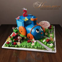 "Детский торт ""Голубой вагон"" № 200 Д"