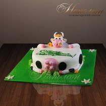 Торт с коровой № 216 Д