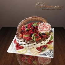 """Подарочный торт """"Ягодная корзинка"""" № 090 Т"""