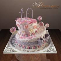Торт на 10 лет девочке № 221 Д