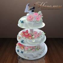 Свадебный торт с парой № 099 С