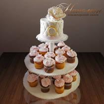 Свадебный торт с капкейками № 174 С