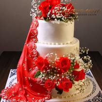 Свадебный торт № 190 С