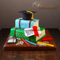 Торт на выпускной из школы № 242 Д