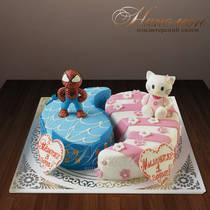 Торт для двойняшек № 250 Д