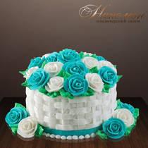 Подарочный торт с розами № 109 Т