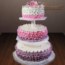 Свадебный торт на этажерке № 210 С