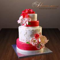 Свадебный торт на заказ № 204 С