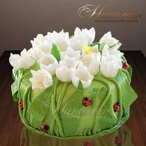Подарочный торт с ландышами № 118 Т