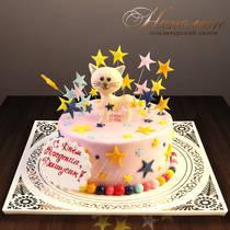 Детский торт с кошкой № 271 Д