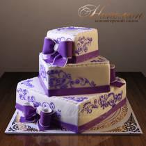 Свадебный торт многоярусный № 215 С