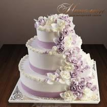 Свадебный торт из сливок № 216 С