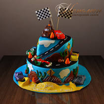 Детский торт Тачки 2 № 284 Д