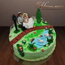 Свадебный торт № 086 С