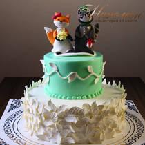 Свадебный торт с фигуркой № 223 С
