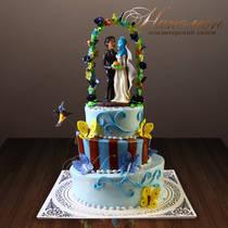 Оригинальный свадебный торт № 224 С