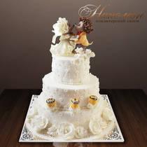 Свадебный торт с ежиками № 225 С