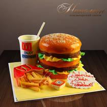 Торт Обед в Макдональс № 015 ор