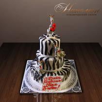 Детский торт зебра № 304 Д