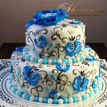 Эксклюзивный свадебный торт № 231 С