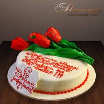 Торт с тюльпанами № 130 Т