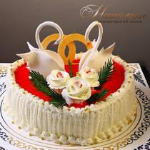 Свадебный торт с лебедями № 237 С