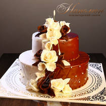 Свадебный торт Черное и Белое № 242 С