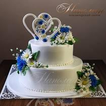 Свадебный торт с сердечками № 245 С