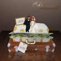 """Свадебный торт """"На чемоданах.."""" № 072 С"""