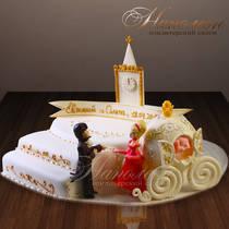 Свадебный торт Золушка и Принц № 246 С