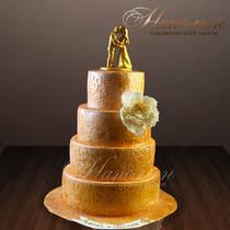 Свадебный торт золотой № 249 С