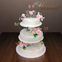 Свадебный торт на этажерке № 046 С