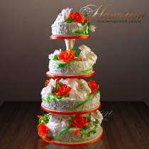 Свадебный торт на этажерке № 255 С