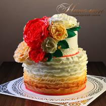 Свадебный торт № 262 С