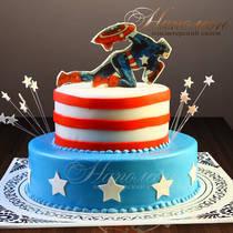 Торт Капитан Америка № 436 Д