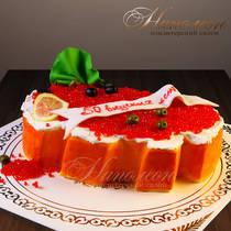 Торт на день рождения бутерброд с икрой № 179 Т
