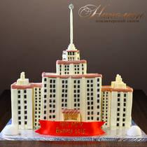 Торт здание МГУ 038 Вип