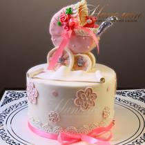 Торт с коляской № 462 Д