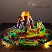 Детский торт Динозавры № 488 Д