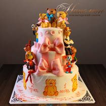 Детский торт Барбоскины и Мишки Тедди № 522 Д