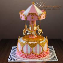 Торт карусель № 524Д