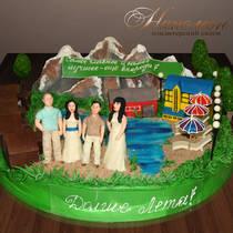 Вип торт 3D Пейзаж № 042Вип