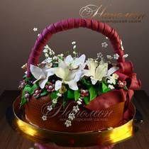 Торт Корзина цветов № 209Т
