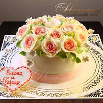 Торт на годовщину свадьбы № 225 Т