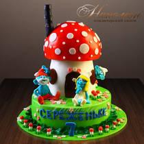 Торт смурфики № 566 Д