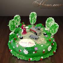 Детский торт Маша и медведь № 044 Д