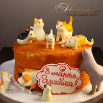 Торт с кошками № 055 Ж