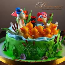 Торт на день рождения на 1 № 598 Д
