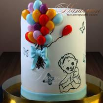 Торт с шариками № 607 Д