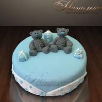 Детский торт с Тедди № 045 Д